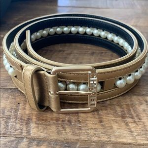 Authentic Chanel Gold and Pearl Belt